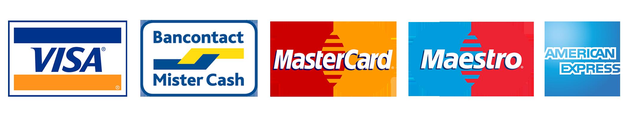Mode paiement VISA Bancontact Mobile